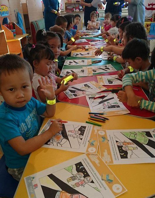 EASST visits schools in Aktobe, Kazakhstan to promote Road Safety Education