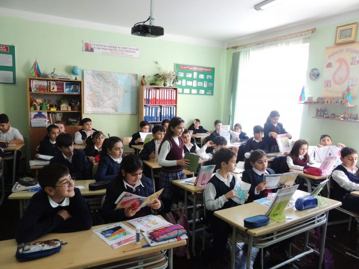 Azerbaijani children learn to stay safe on the roads with EASST's Road Safety Education Pack