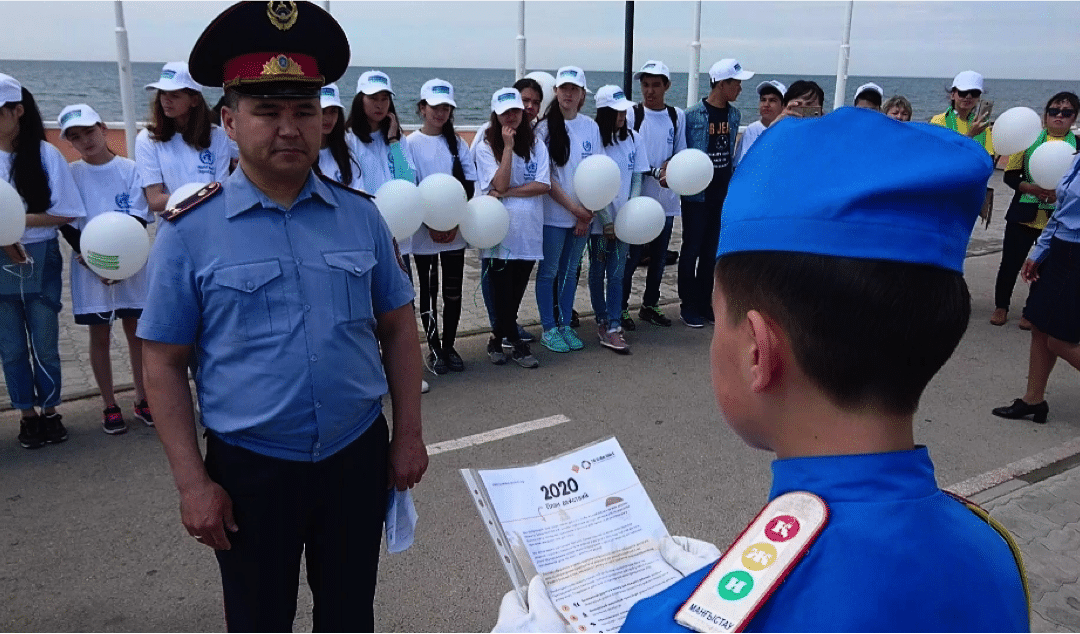 Local children call for urgent action to improve road safety in Kazakhstan