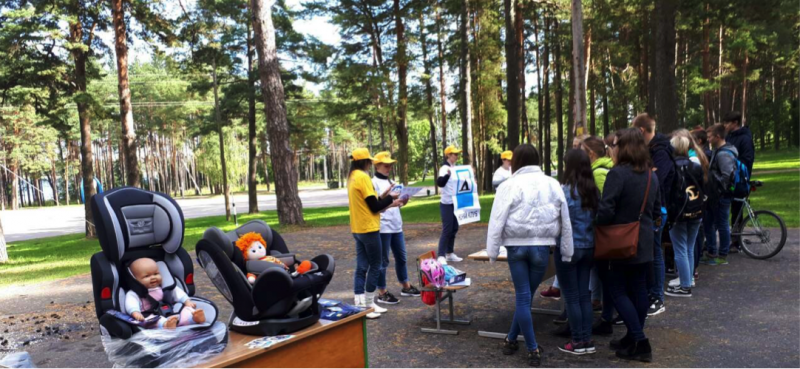 BKA promote children's road safety at final stage of Rally Belarus 2017