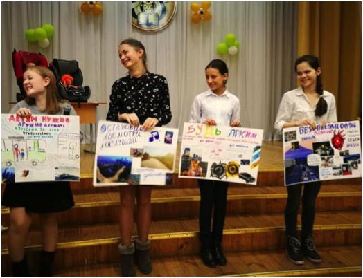 Children in Belarus promote road safety