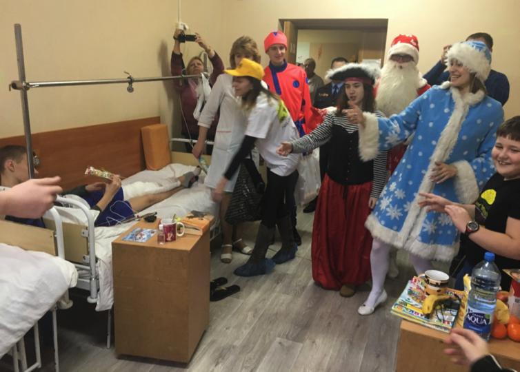 BKA visit children's hospital in Minsk