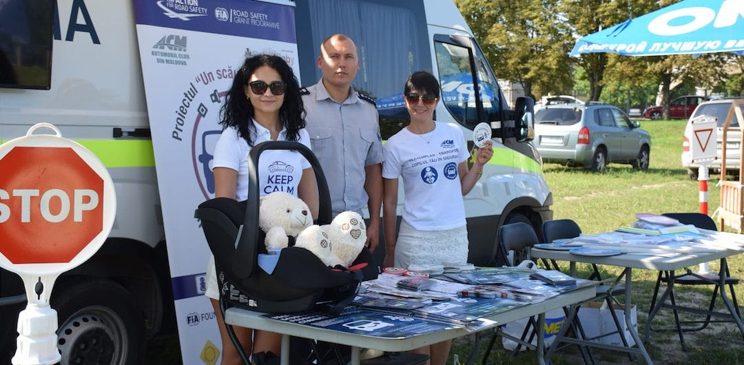 Raising road safety awareness for children in Moldova