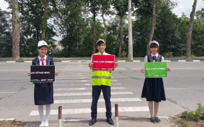 Road safety around schools in Dushanbe made a priority
