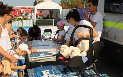 SKODA and the ACM set up a Road Safety Town in the heart of Chisinau