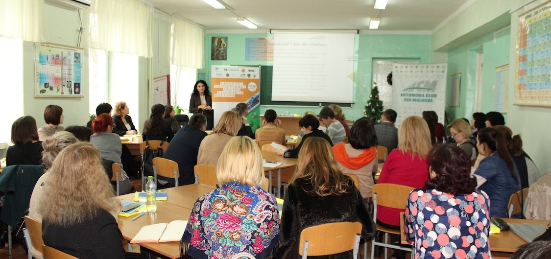Road safety education Moldova