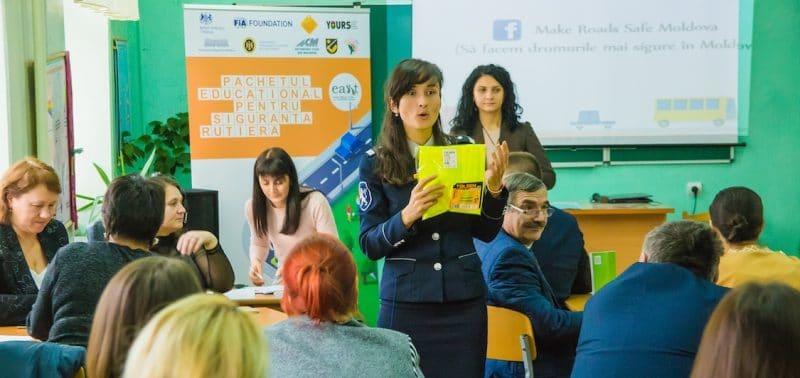 Road safety education Moldova