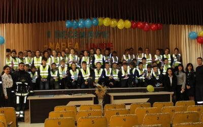 Road safety awareness and high-visibility gifts for children in Moldova