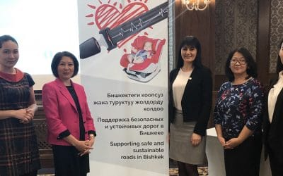 Seat belt campaign launch event reveals low levels of seat belt use in Bishkek