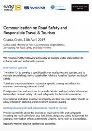 Chania Communication on Road Safety and Responsible Tourism