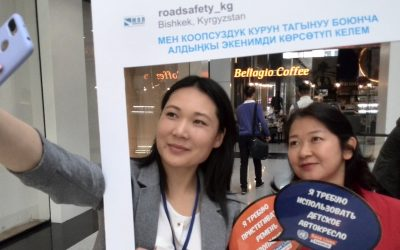 UNGRSW action in Kyrgyzstan focuses on increasing seat belt and child restraint use to save lives.