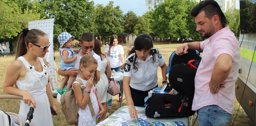 Promoting safe transport for children and newborns in Moldova