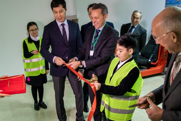 West Kazakhstan Region launches Regional Road Safety Strategy and unveils new road safety playgrounds for kids