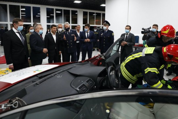 Ukrainian President attends official opening of Ukraine's new Emergency Rescue Training Centre