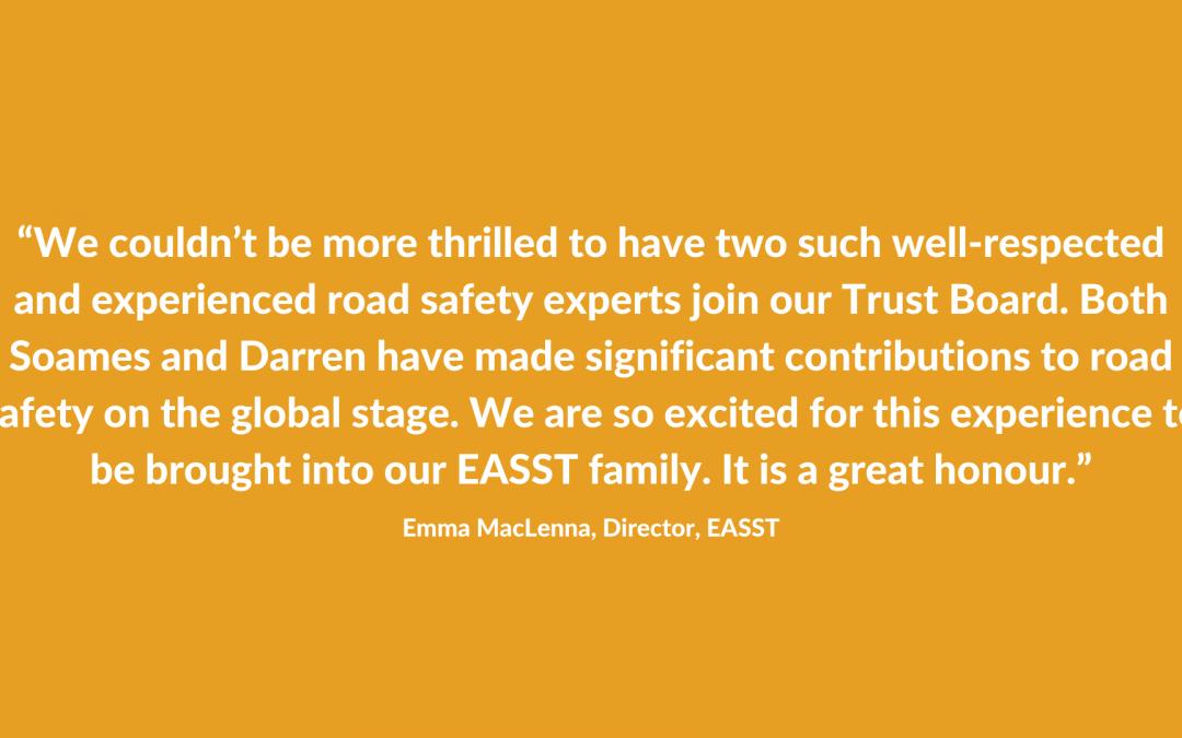 EASST welcomes new Board members Soames Job and Darren Lindsey
